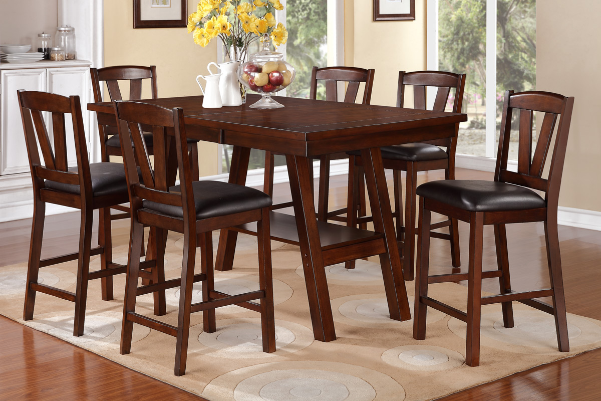 7 Pcs Counter Height Dining Set #2273 1333PX