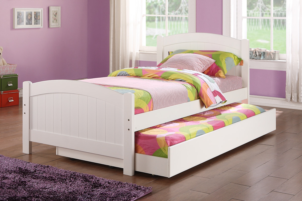twin bed with trundle white color 9218px casye furniturecasye