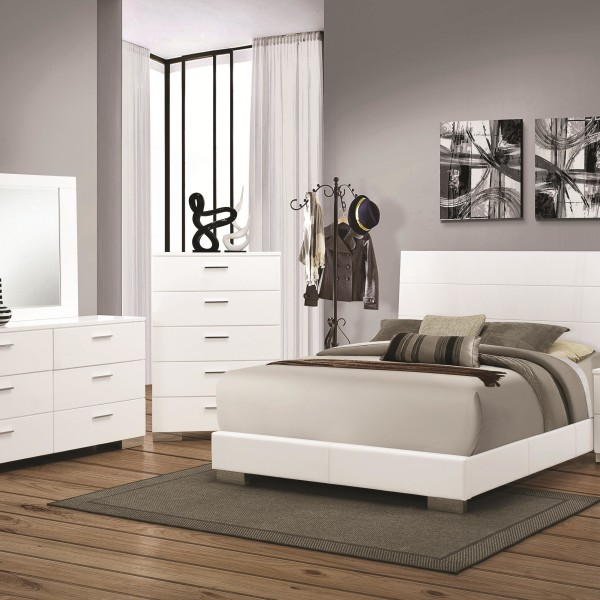 4pc Bedroom Set Felicity Collection CO White Color - Casye ...