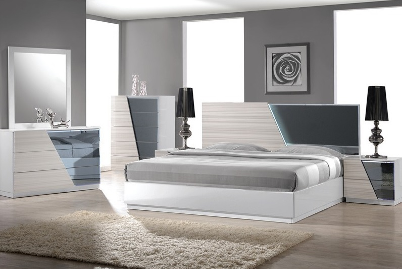 Manchester zebra gray with white lacquer bedroom collection casye furniturecasye furniture for Bedroom furniture in manchester