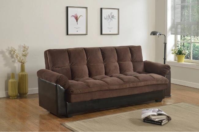 lightbox futon sofa bed with storage lv05 chocolate espresso color   casye      rh   casyefurniture