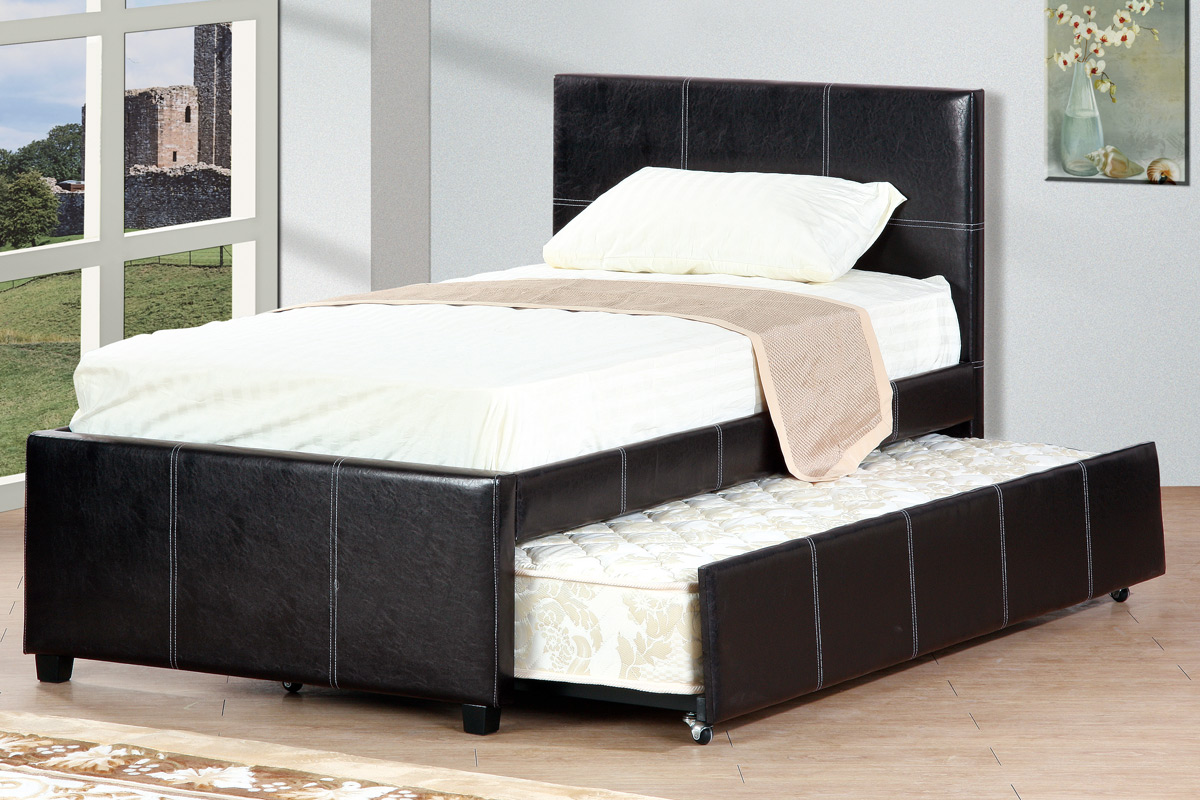 Picture of: Twin Or Full Platform Bed With Trundle Espresso Finish F9214 Casye Furniture