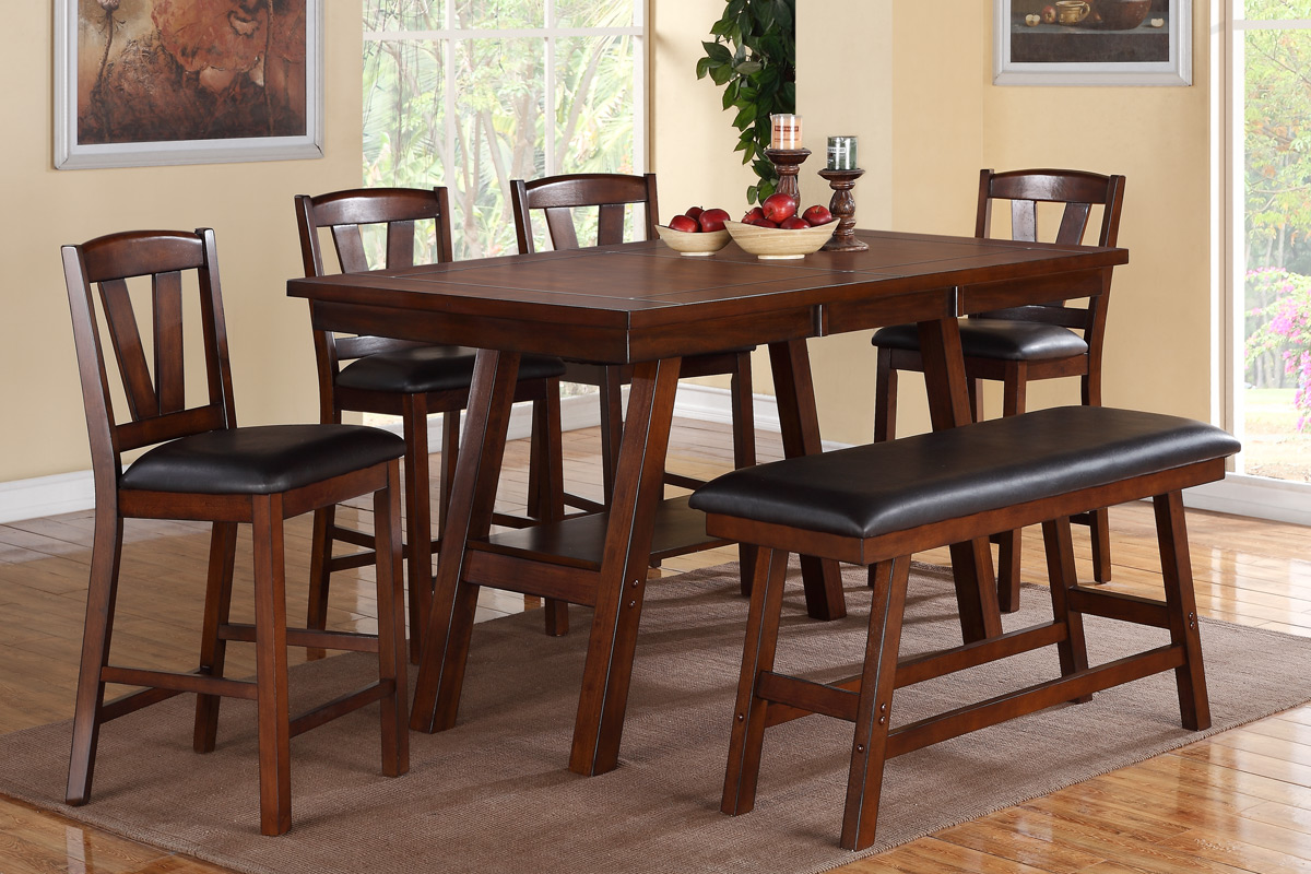 6 Pcs Counter Height Dining Set 2273 1333px Casye Furniture