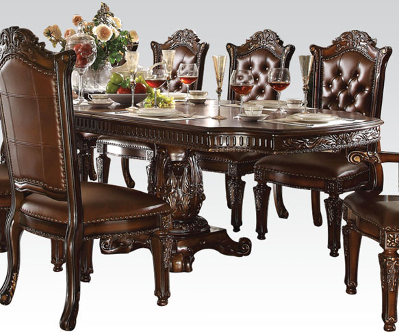 Vendome Traditional Formal Dining Room Cherry Finish