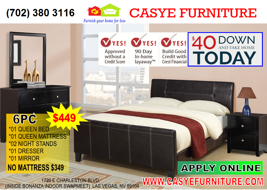 BEDROOM SET 6PC - Casye Furniture