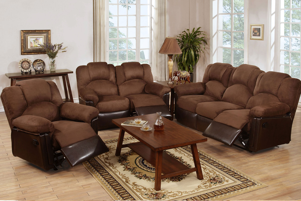 Living Set Espresso Bonded Leather