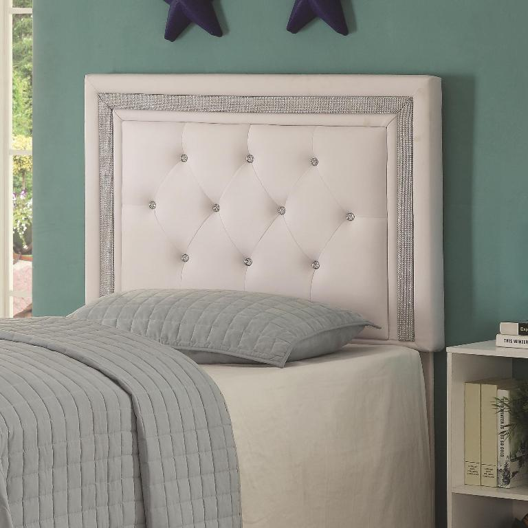 Andenne Tufting Headboard White Color 300545 Casye