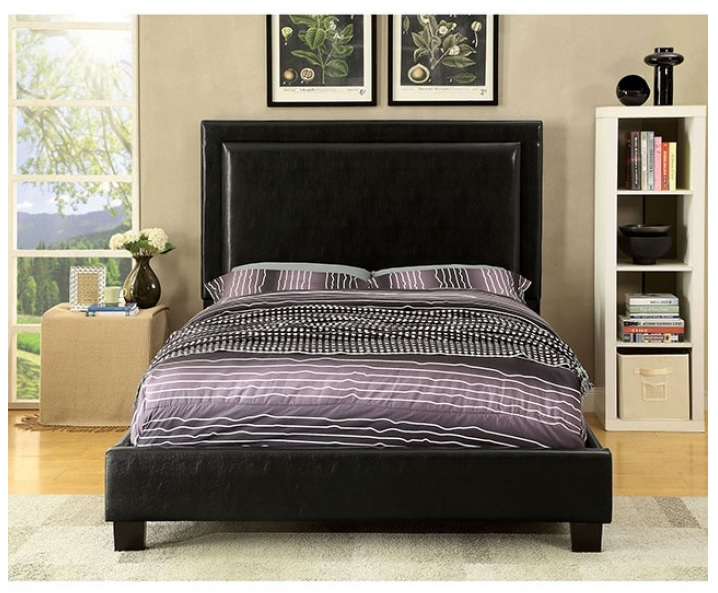 Erglow Ii Collection Platform Bed Espresso Finish Cm7696