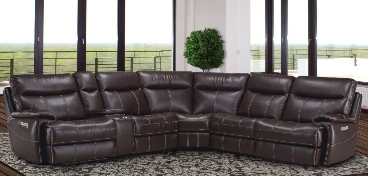 Fantastic Dylan Brown Leather Gel 6Pc Sectional Inzonedesignstudio Interior Chair Design Inzonedesignstudiocom