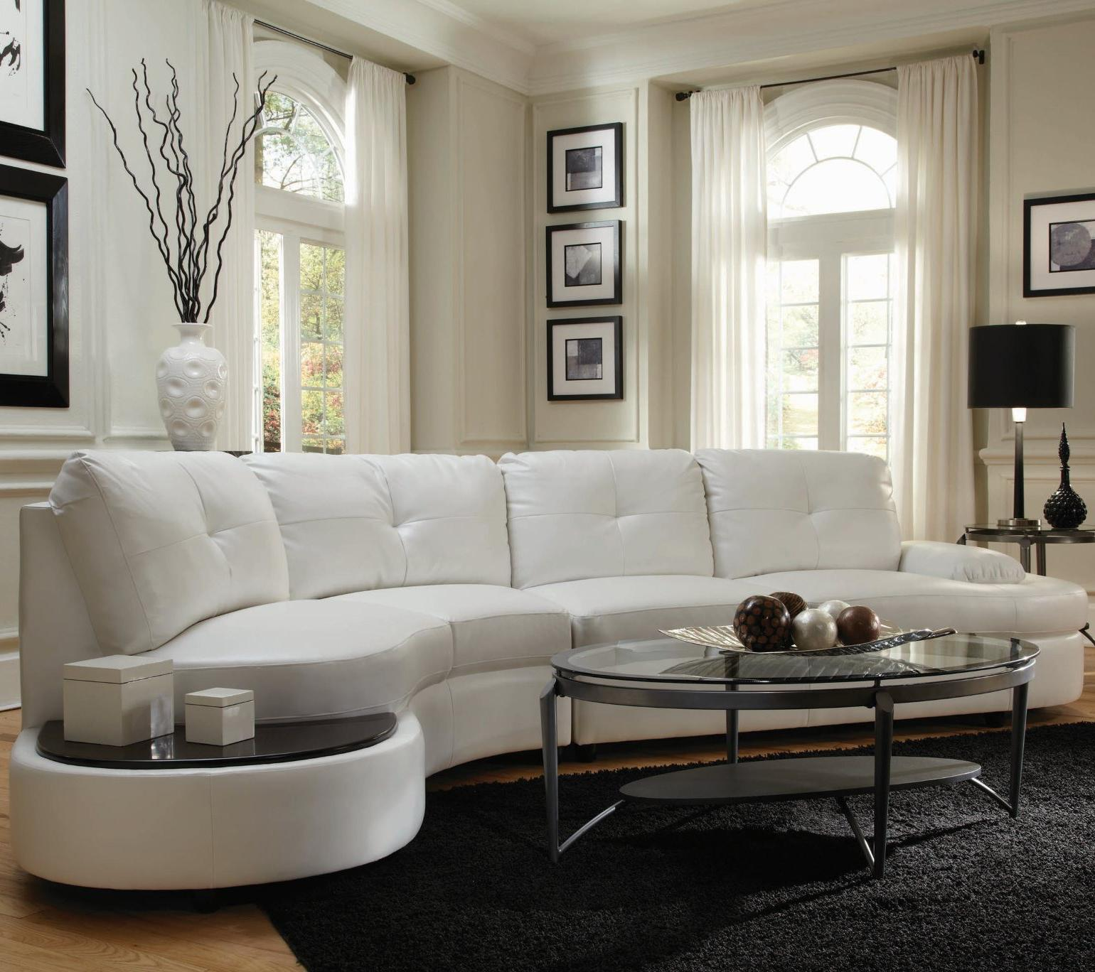 Talia Contemporary Sectional Conversation Sofa with Built-In Table ...