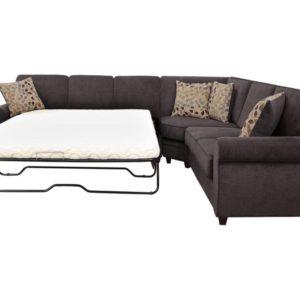 Kendrick Sectional Sofa Sleeper Chocolate Color 501450