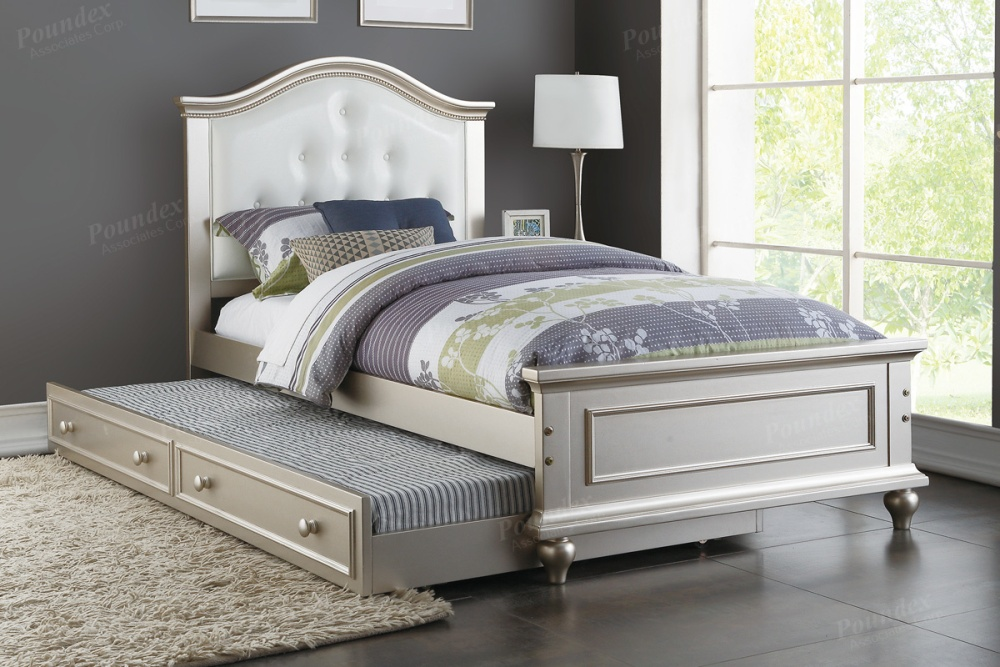 twin platform bed with twin trundle white finish 9378px 12921 | 9378 px