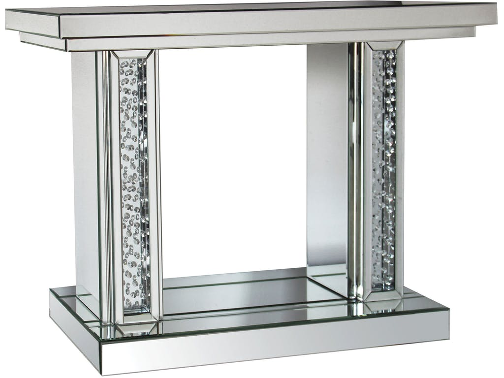 Nysa Mirrored Console Table Amp Accent Mirror Casye Furniture