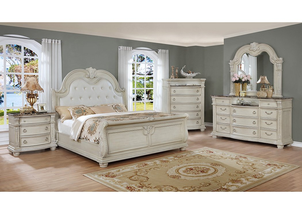 stanley antique white bedroom collection b160cm casye 87958