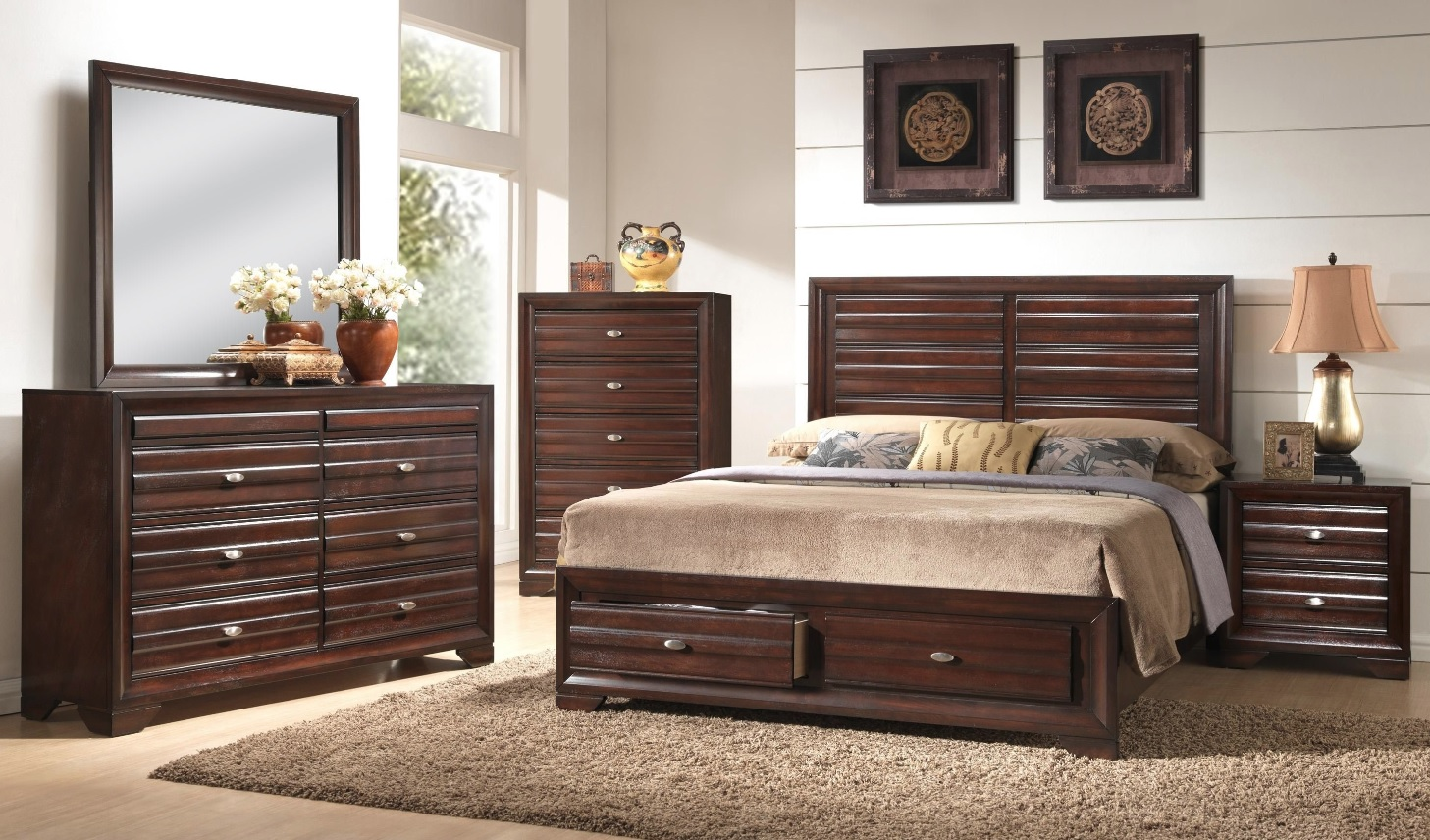 stella collection bedroom set espresso finish b4550 casye furniturecasye furniture