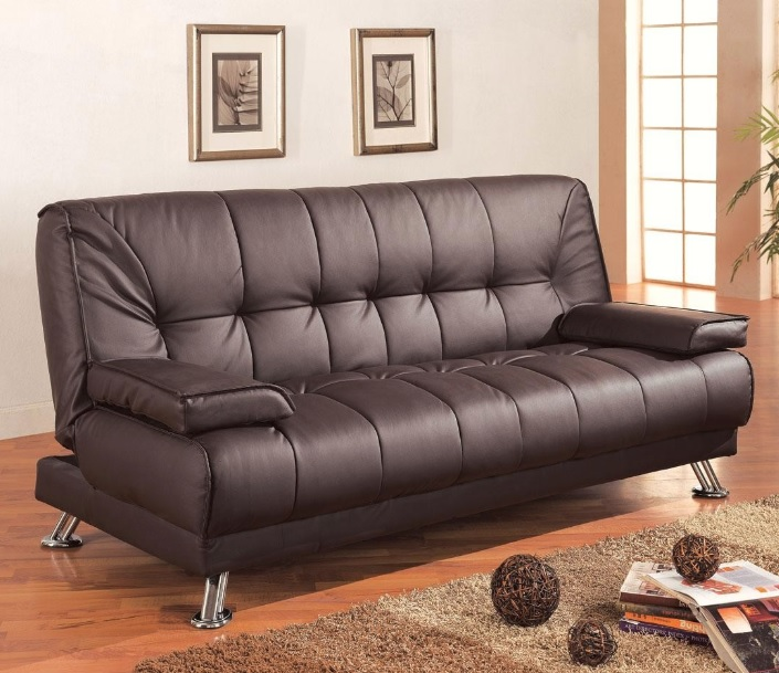 Excellent Dark Brown Futon Sofa Bed 300148 Creativecarmelina Interior Chair Design Creativecarmelinacom