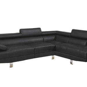 2pc Sectional Sofa, Set Black Color F7310