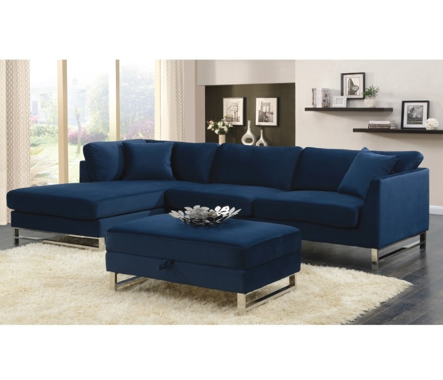 Seaview Broadway Navy Blue 2pc Sectional