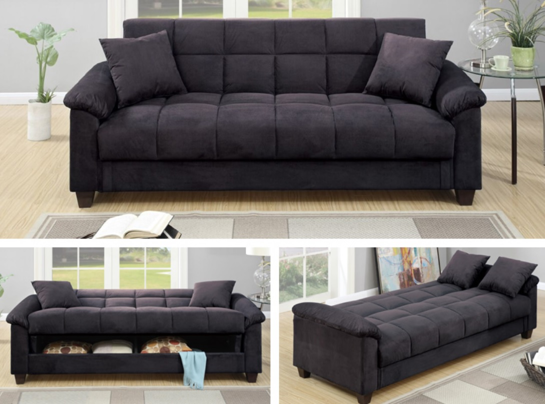 Adjustable Sofa Bed Ebony Color F7888 Casye Furniture