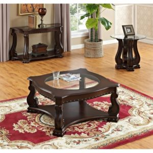 Madisson Collection Traditional Tables Set Dark Cherry Finish 4320cm Casye Furniturecasye Furniture
