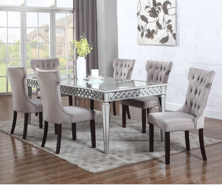 Alyssa Silver Mirrored Dining Room 610/T1840BM