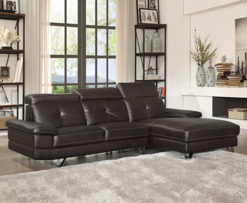 Aeryn Collection Sectional, Brown Color 52045AC