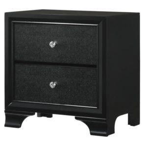 Lyssa Led Collection Bedroom Set Black Finish B4350